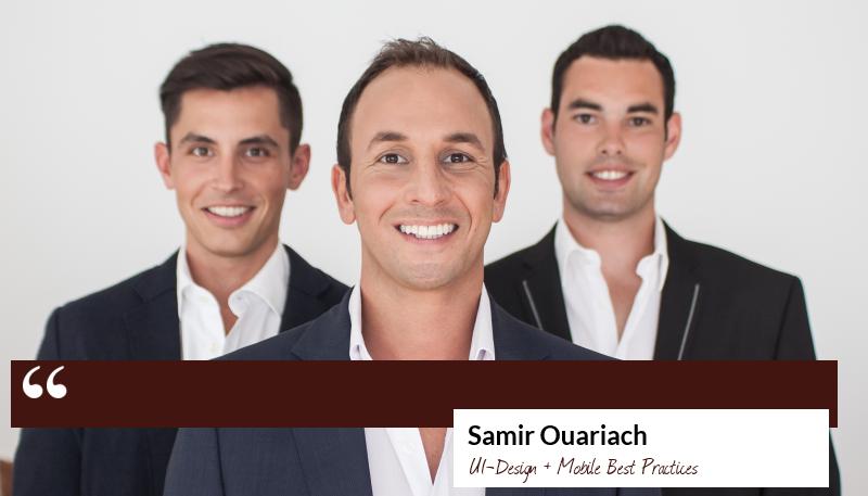 Zitat Samir Ouariach - UI-Design und Mobile Best Practices