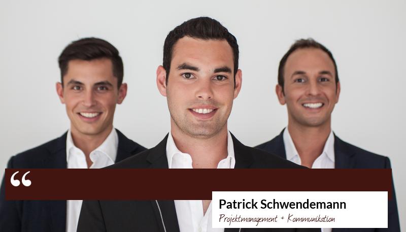 Zitat Patrick Schwendemann - Projektmanagement und Kommunikation