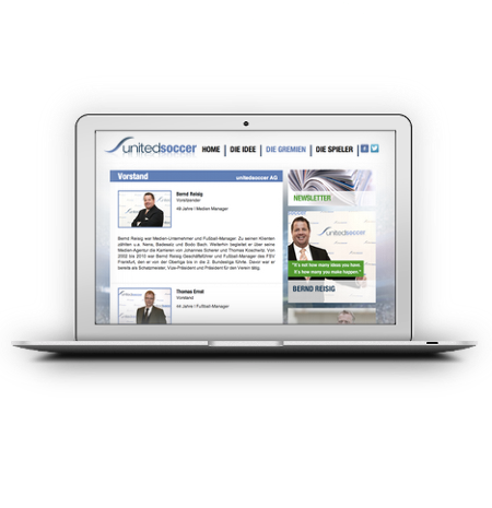 unitedsoccer AG Website